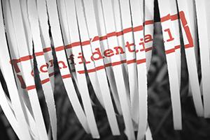 Confidential document shredded