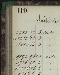 Old watchmakers ledger