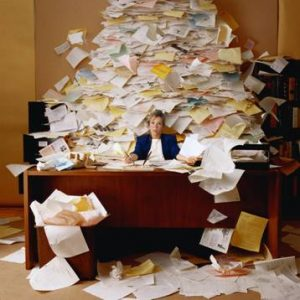 A mountain of paperwork