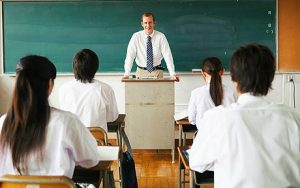 Teacher in classroom