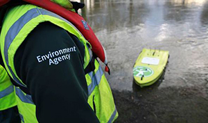 Environment agency worker