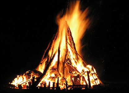 Burning Office Confidential Papers on Bonfire Night
