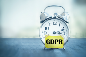 Alarm clock showing GDPR deadline approaching