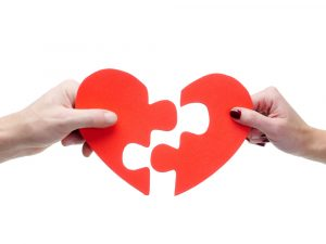 Heart jigsaw puzzle - perfect match