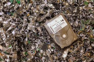 Destroyed hard drive - Scan Film or Store secure data destruction services
