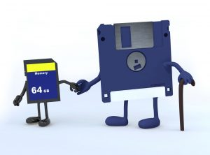 Document digitisation: a young memory card helps an ageing floppy disc