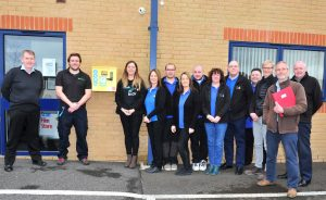 The Scan Film or Store team with their new defibrillator